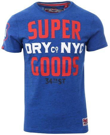 Superdry Cobalt Tee 34th Street Short Sleeve T-Shirt  - Click to view a larger image