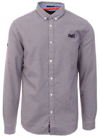 Superdry Purple Check Premium Button Down Shirt  - Click to view a larger image