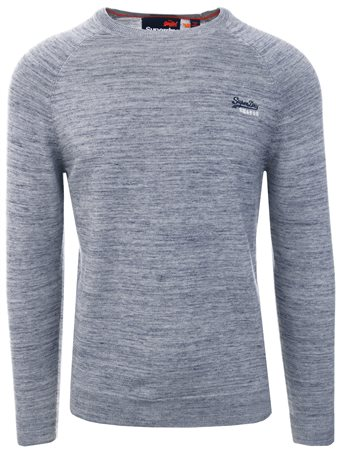 Superdry Denim Grit Cotton Crew  - Click to view a larger image