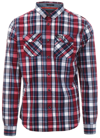Superdry Ruby Navy Washbasket Check Shirt  - Click to view a larger image