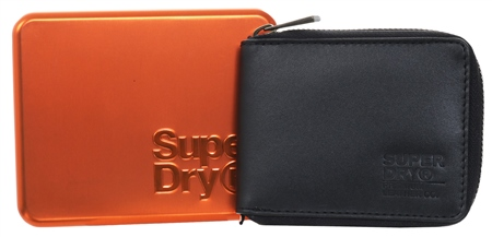 Superdry Black Wing Wallet In A Tin  - Click to view a larger image