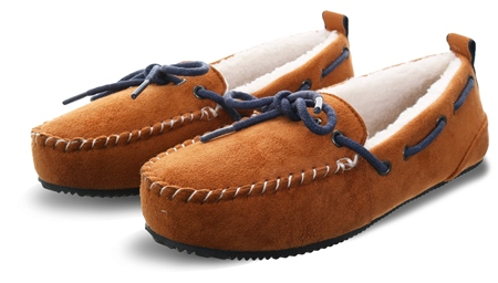 Superdry Tan Suede Clinton Moccasin Slippers  - Click to view a larger image