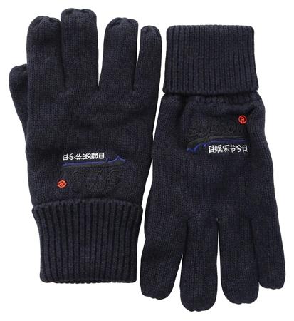 Superdry Eclipse Navy/Black Grit Orange Label Gloves  - Click to view a larger image