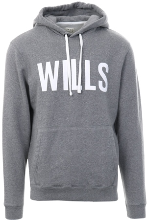 Jack Wills Grey Batsford Pop Over Hoodie  - Click to view a larger image