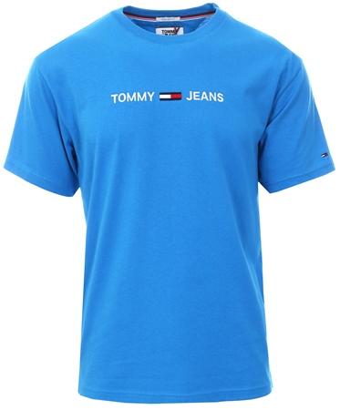 Hilfiger Denim Brillaint Blue Pure Cotton Logo T-Shirt  - Click to view a larger image