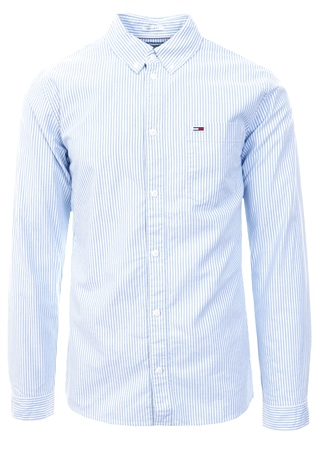 Hilfiger Denim Light Blue Tommy Classics Stripe Shirt  - Click to view a larger image
