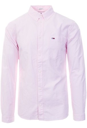 Hilfiger Denim Oxford Pink Tommy Classics Stripe Shirt  - Click to view a larger image