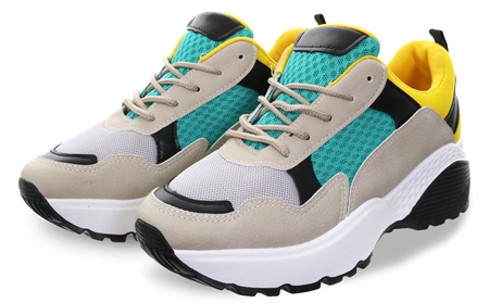 No Doubt Green Chunky Lace Up Trainer  - Click to view a larger image