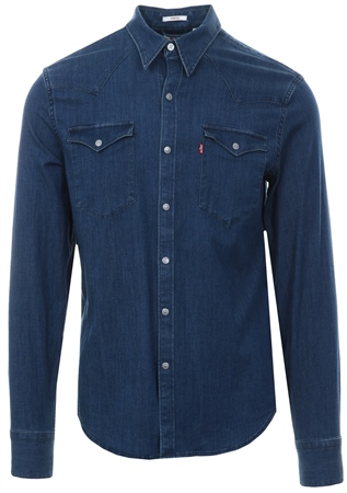 Levi's Blue Barstow Western Shirt  - Click to view a larger image