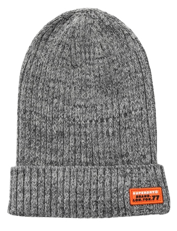 Superdry Leadway Grey Wiseman Knitted Beanie  - Click to view a larger image
