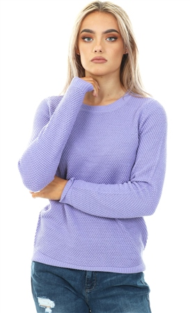 Vila Violet Tulip Chassa Knitted Pull Over Top  - Click to view a larger image