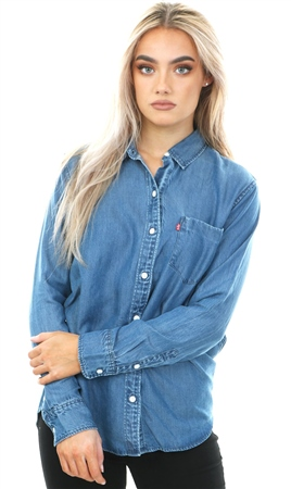 Levi's Denim Ultimate Boyfriend Button Down Shirt  - Click to view a larger image