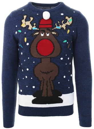 Tokyo Laundry Sapphire Christmas Knitted Jumper  - Click to view a larger image