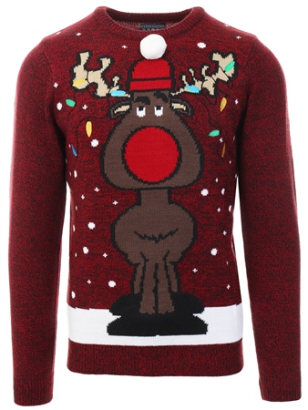 Tokyo Laundry Red Twist Christmas Knitted Jumper  - Click to view a larger image