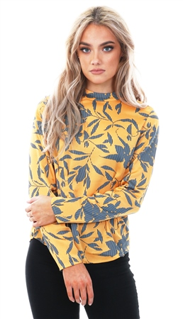 b295044491092e Veromoda Golden Nuggett Olivia High Neck Long Sleeve Top - Click to view a  larger image