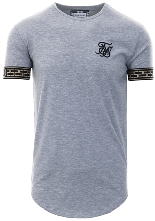 Siksilk Grey Short Sleeve Cartel Lounge Tee  - Click to view a larger image