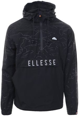 Ellesse Black Santi Oh Half Zip Pull Over Jacket  - Click to view a larger image