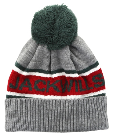 b54605a3c05 Jack Wills Grey Marl Kitson Intarsia Beanie Hat. One In Stock250531