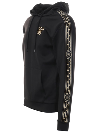 d06178963f016 Siksilk Black Cartel Poly Overhead Hoodie - Click to view a larger image