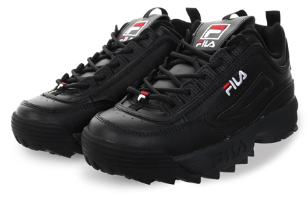 Fila Black (Womens) Disruptor Ii Lace Up Trainer  - Click to view a larger image