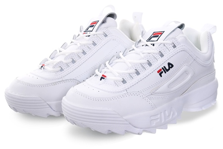 Fila White Disruptor Ii Lace Up Trainer  - Click to view a larger image