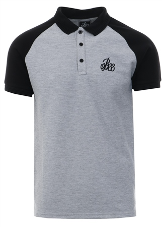 Bee Inspired Grey/Black Iwaki Polo Short Sleeve Shirt  - Click to view a larger image