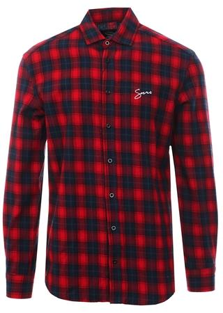 4651573a926 Sinners Attire Red Black Script Flannel Shirt