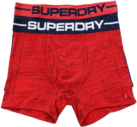 Superdry Navy/Black/Red Sport Boxers Double Pack  - Click to view a larger image
