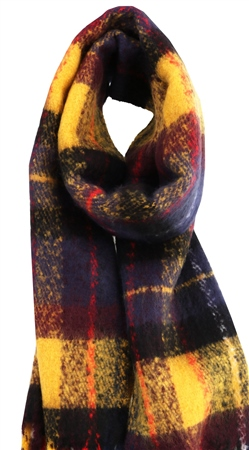 Pieces Gold Nugget Kara Checked Print Scarf  - Click to view a larger image