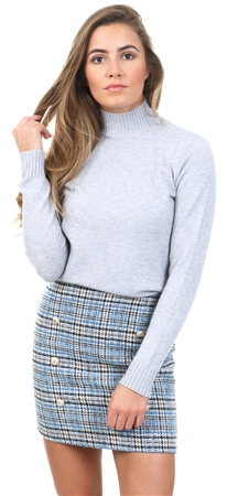 Parisian Check Grey Hound Tooth Mini Skirt  - Click to view a larger image