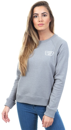 Vans Grey Heather Full Patch Raglan Crew Sweater  - Click to view a larger image