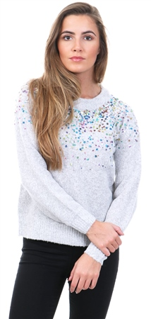 Jdy Grey Sparkle Knit Jumper  - Click to view a larger image