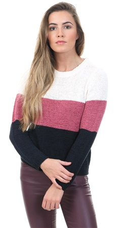 Only Cloud Dancer / Rose Geena Knit Jumper  - Click to view a larger image