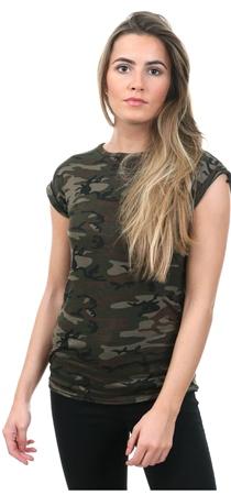 Parisian Camo Printed Short Sleeve T-Shirt  - Click to view a larger image
