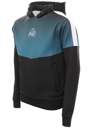 Kings Will Dream Black/Teal Fade Innes Hooded Top  - Click to view a larger image