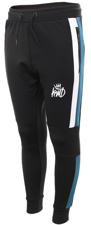 Kings Will Dream Black/Teal/White Panel Mert Jog Pant  - Click to view a larger image