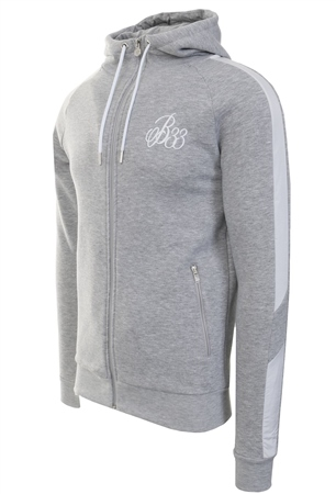 Bee Inspired Grey Marl Hidaka Zip Hoodie  - Click to view a larger image