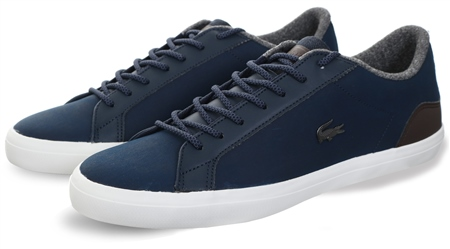 Lacoste Navy Lerond 318 Lace Up Trainer  - Click to view a larger image