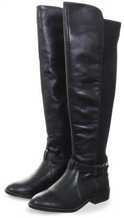 Xti Black Over The Knee High Round Toe  - Click to view a larger image