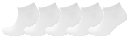 Jack & Jones White 5 Pack Classic Ankle Socks  - Click to view a larger image