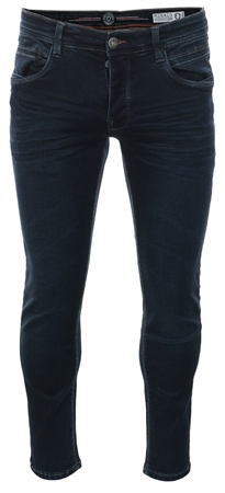 Eto Jeans Dark Blue Denim Straight Fit Jeans  - Click to view a larger image