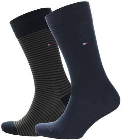 Hilfiger Denim Khaki / Dark Olive 2-Pack Stripe Socks  - Click to view a larger image