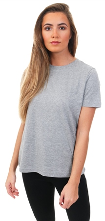 Veromoda Grey Marl Classic Short Sleeve T-Shirt  - Click to view a larger image