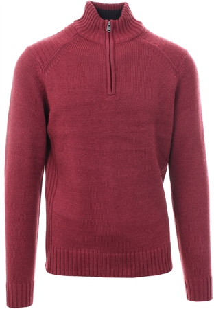 Kensington Red Half Zip Up Pullover Sweater  - Click to view a larger image