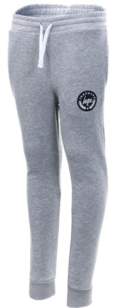 Hype Grey Script Logo Cuffed Fitted Joggers  - Click to view a larger image