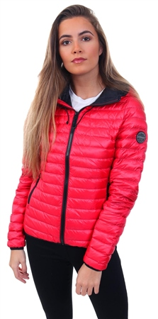 Superdry Raspberry Core Down Hooded Jacket  - Click to view a larger image