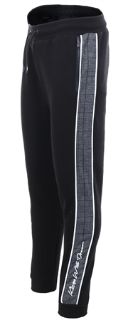 Kings Will Dream Black Carrick Check Side Tape Jogger  - Click to view a larger image