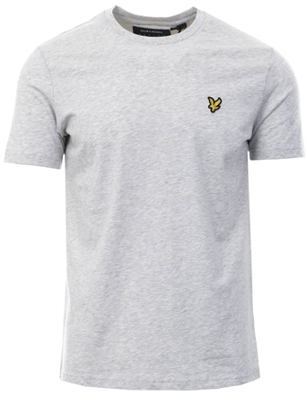 Lyle & Scott Lt Grey Crew Neck Short Sleeve T-Shirt  - Click to view a larger image
