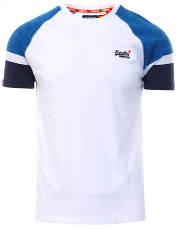 Superdry White Engineered Baseball T-Shirt  - Click to view a larger image