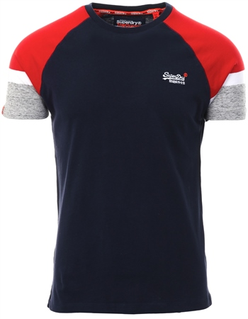 Superdry Navy Engineered Baseball T-Shirt  - Click to view a larger image